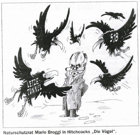 "Broggi in Hitchcocks ""Die Vögel"""