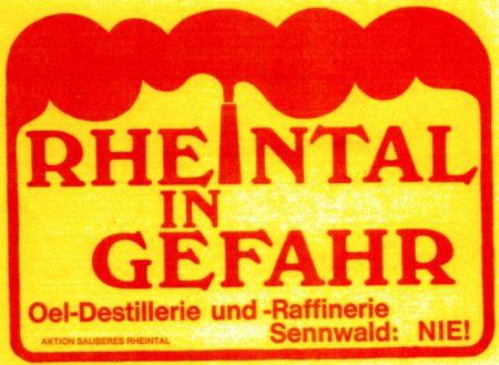 Ölraffinerie und Kernkraftwerk für das Alpenrheintal