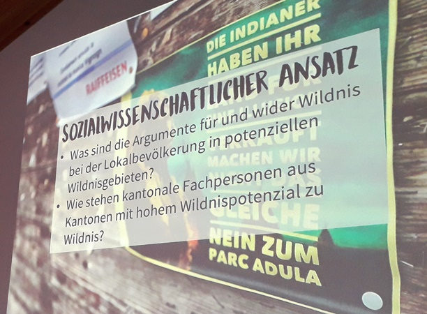 Vernissage «Wildnispotenzial Schweiz»