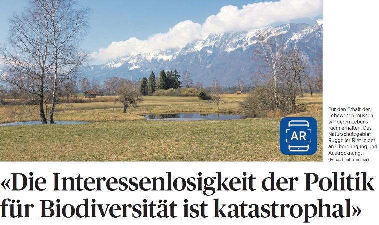 Liechtensteins Naturschutzgebiet in Not